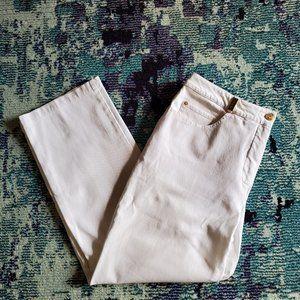 St. John Sport Cropped White Pants Size 14 EUC